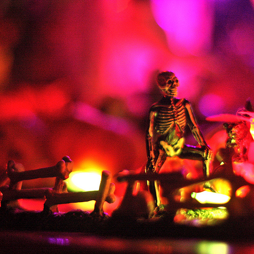 Skeleton, enjoying the evening